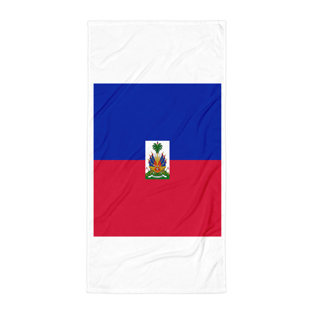 Haiti Flag Towel