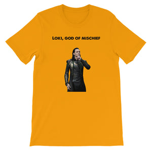 Short-Sleeve Loki, God of Mischief Unisex T-Shirt
