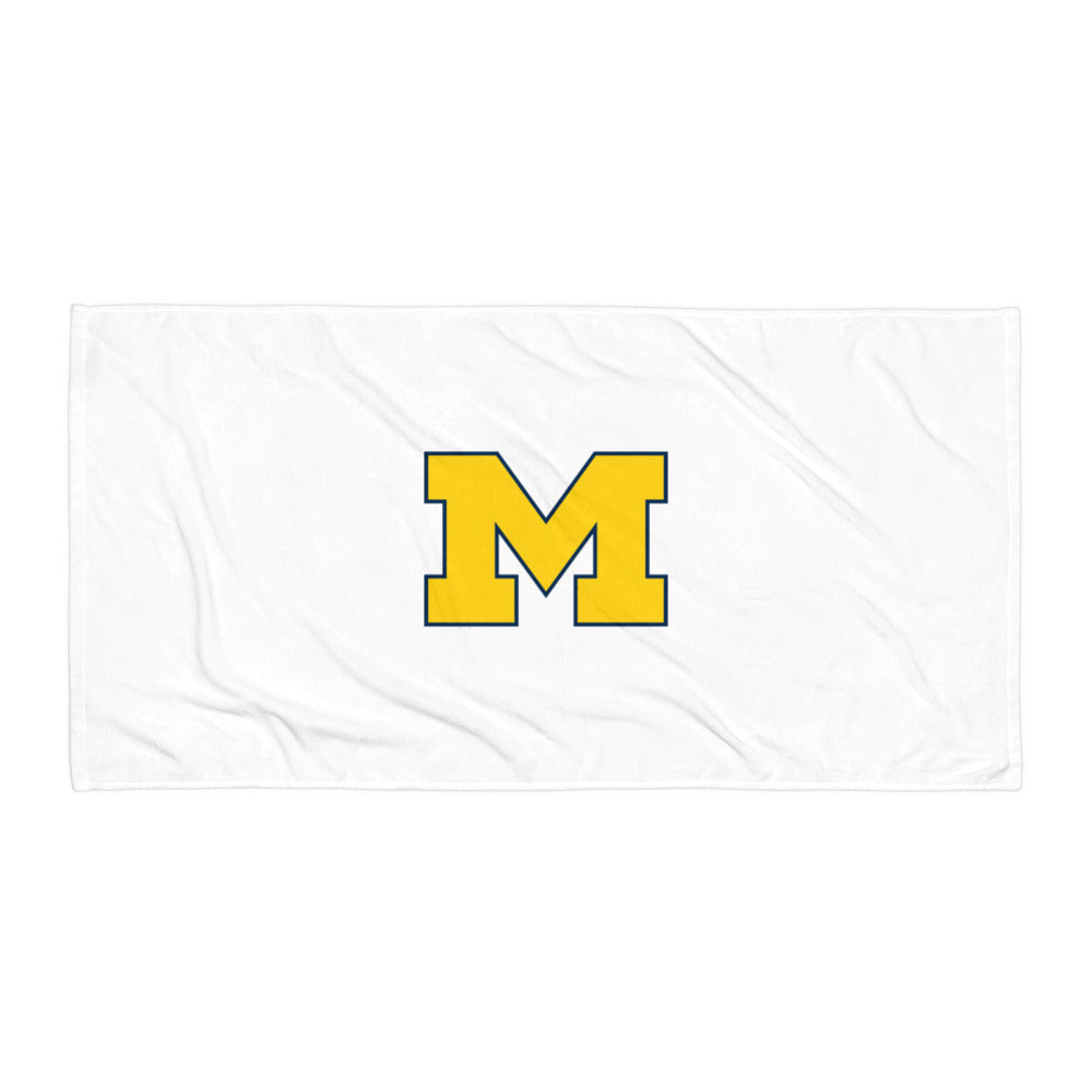 Michigan Block M Towel