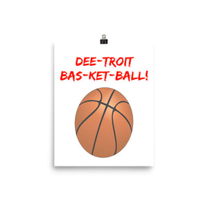 Detroit Basketball Photo paper poster