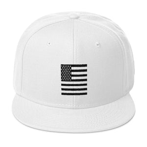 Black American Flag Snapback Hat