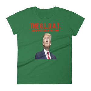 The G.L.O.A.T.Greatest Liar Of All Time Trump 45 Women's short sleeve t-shirt