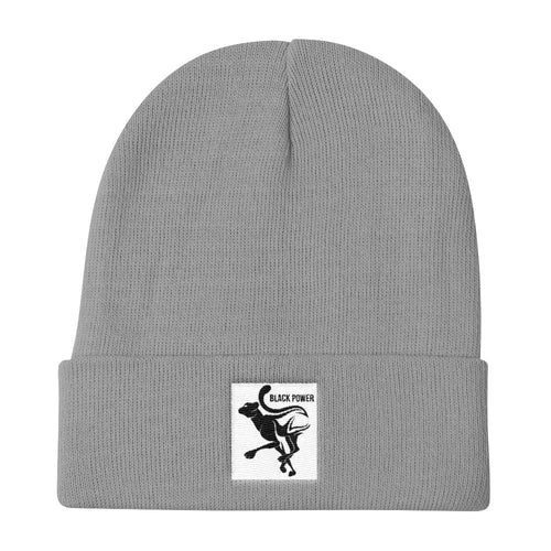 Black Power Panther Knit Beanie