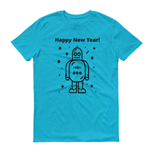 Happy New Year Robot Short-Sleeve T-Shirt