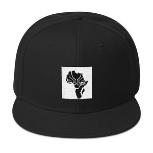 Black Africa Cat Eye Logo Snapback Hat