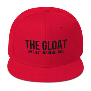 The G.L.O.A.T. Greatest Liar Of All Time Trump 45 Snapback Hat