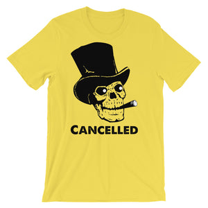 Cancelled Skull with Top Hat Short-Sleeve Unisex T-Shirt