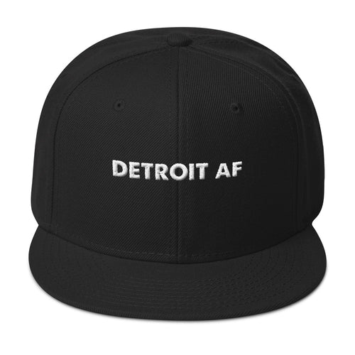 Detroit AF 3D Embroidered Letter Snapback Hat