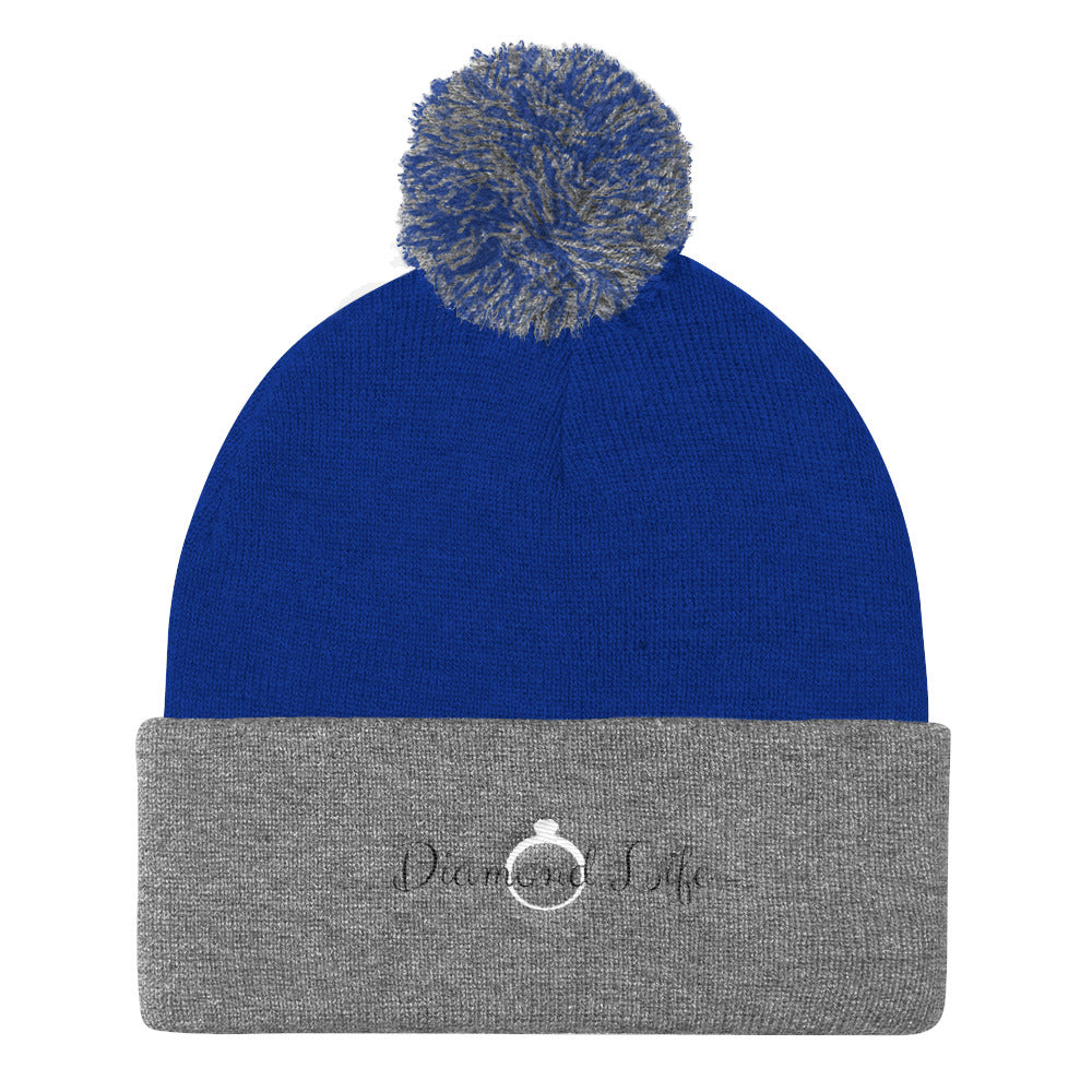 Diamond Life Pom Pom Knit Cap