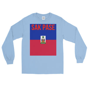 Sak Pase Haiti Flag Long Sleeve T-Shirt