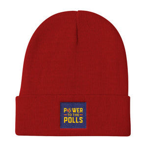 Power To The Polls Political Empowerment Knit Beanie