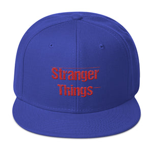 Stranger Things Snapback Hat