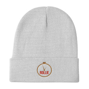 I Wanna Rollie Logo Knit Beanie