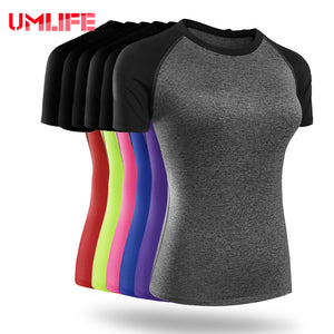 Women's Short Sleeve Yoga Dry Fit Compression T-shirt