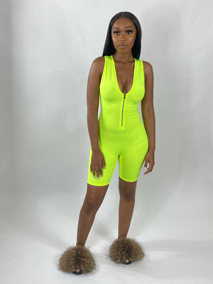 Allie | Romper (Neon Yellow)