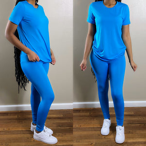 Pretty Chill | Pant Set (Ocean Blue)