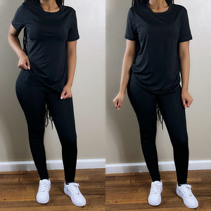 Pretty Chill | Pant Set (Black)