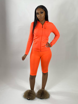 Seamless | Biker Set (Neon Orange)