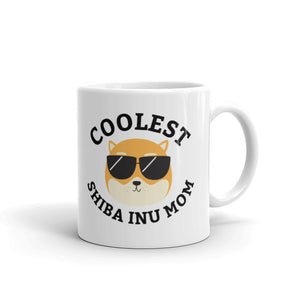 Coolest Shiba Inu Mom Coffee and Tea White Glossy Mug for Dog Mothers