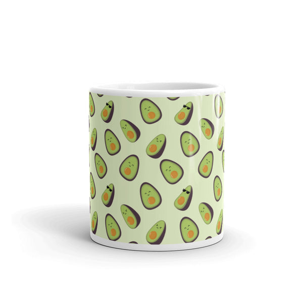 Happy Avocados Kawaii Mug