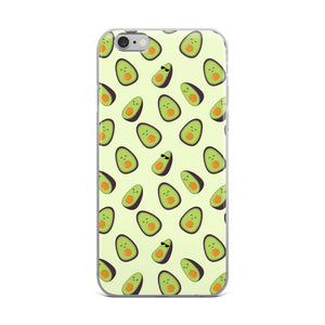 Happy Avocados Cute Kawaii iPhone Case