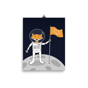 The Fox on the Moon Art Print