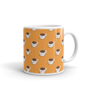 Coffee? Kawaii Coffee and Tea White Glossy Mug