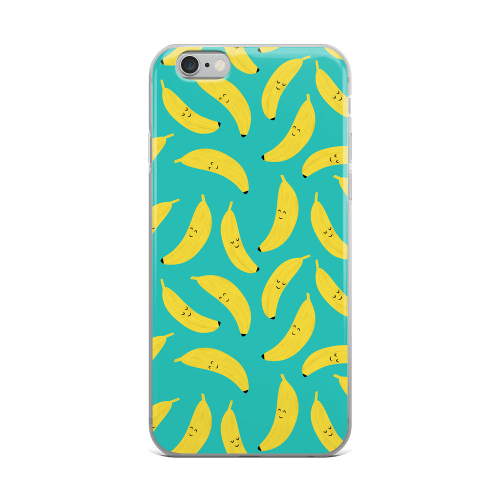 Happy Bananas Cute Kawaii iPhone Case