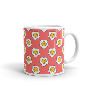Happy Eggy Kawaii White Glossy Mug