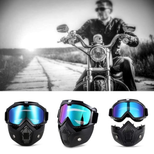 Motorcycle Goggles with Mask