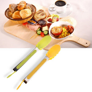 Silicone-Handled Barbecue Tongs