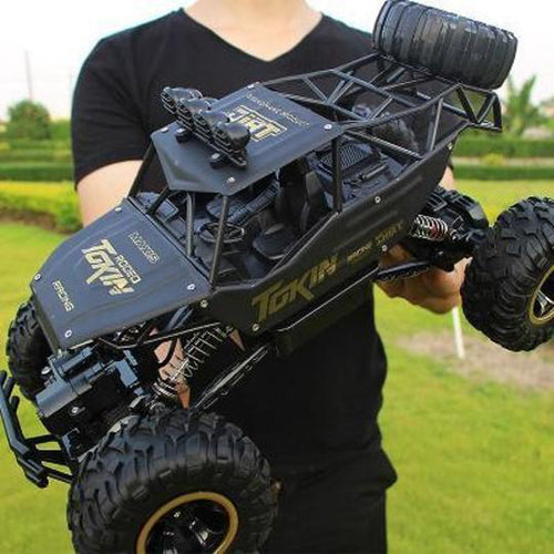 RC Car (1:16) 4DW 2.4GHz Metal Rock Crawlers Rally Climbing Car Double Motors Bigfoot Car Remote Control Model Toys