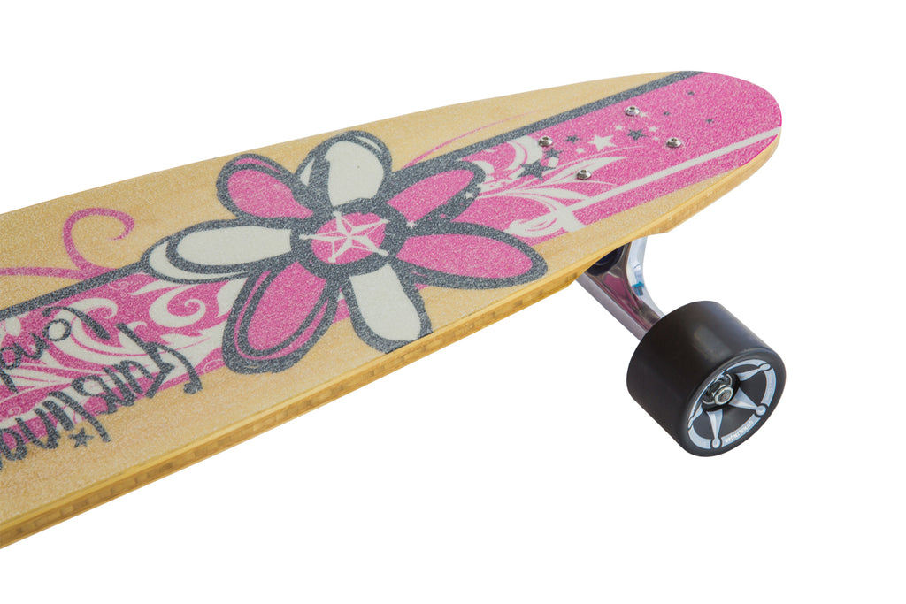 40 Pink Pintail Deck Only  - Gunslinger Longboard Skateboards Australia