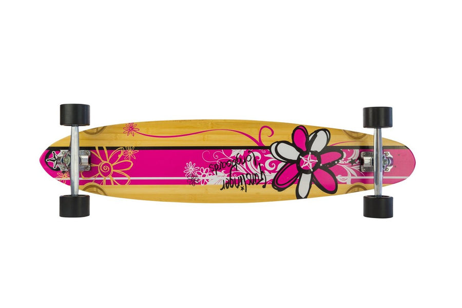40 Pink Pintail  -  WAS $339.00 NOW - Gunslinger Longboard Skateboards Australia
