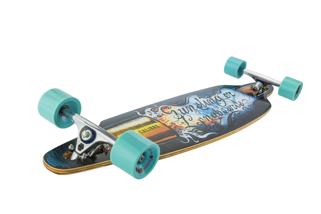 41 Calibre Deck Only  - Gunslinger Longboard Skateboards Australia