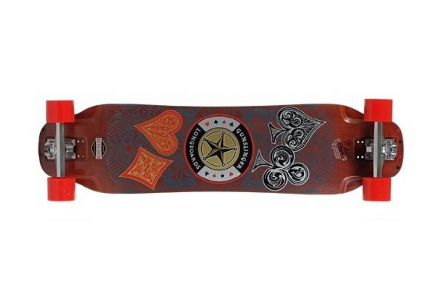 "Aces High Deck Only - 39""/ 990mm - Cruiser/ Downhill - Maple - Top Mount - Gunslinger Longboard Skateboards Australia"