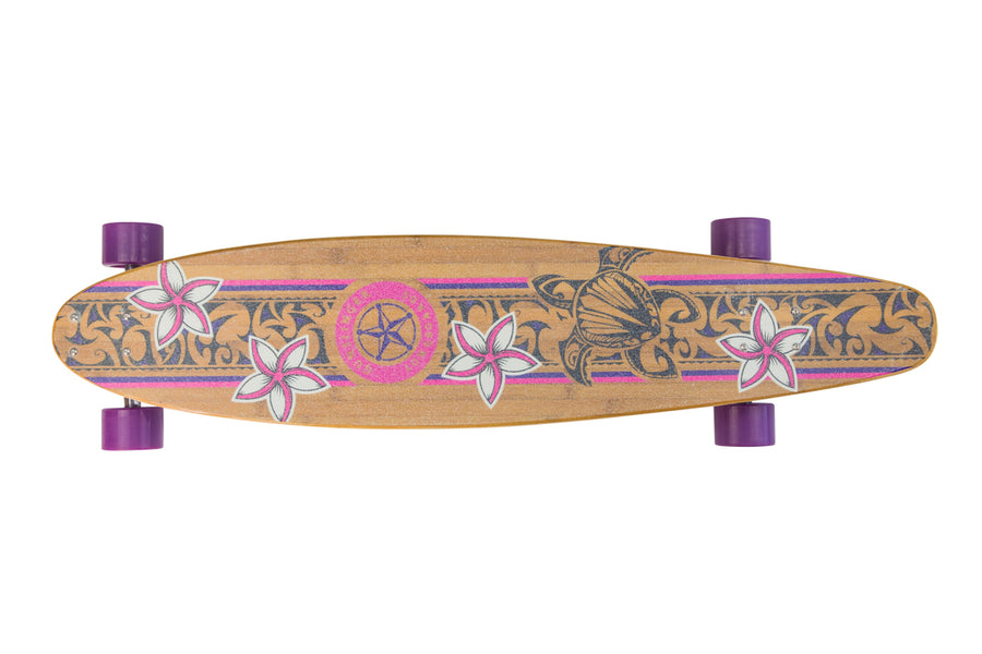 41 Dark Pink Kicktail - WAS $359.00 NOW - Gunslinger Longboard Skateboards Australia