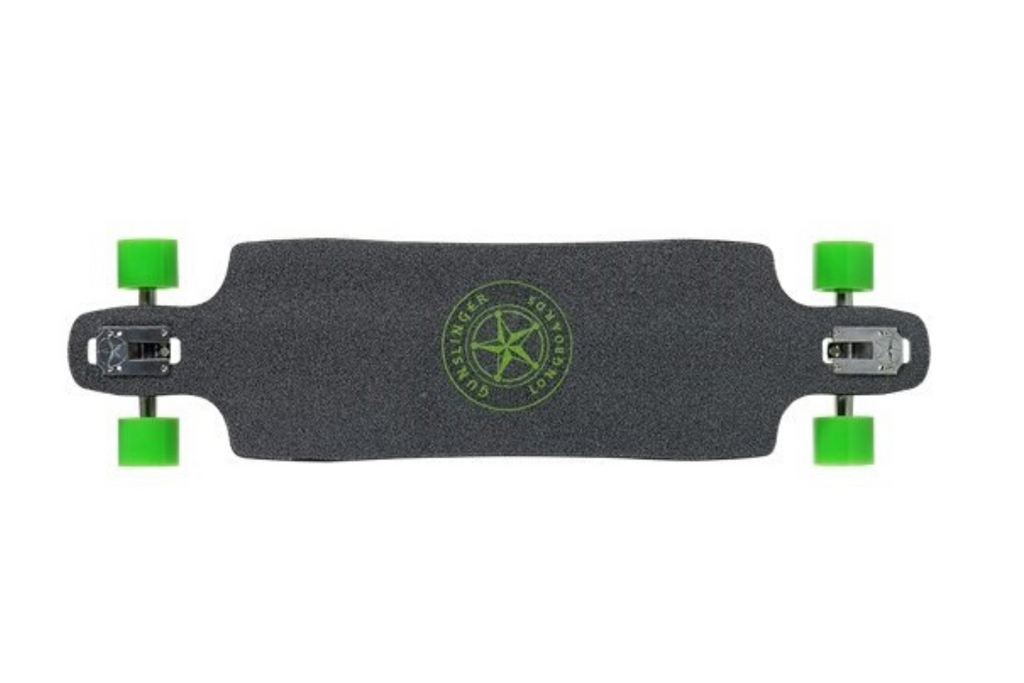 "Green Wizard - 39""/ 1010mm - Maple - Drop-Thru - Freeride - Gunslinger Longboard Skateboards Australia"