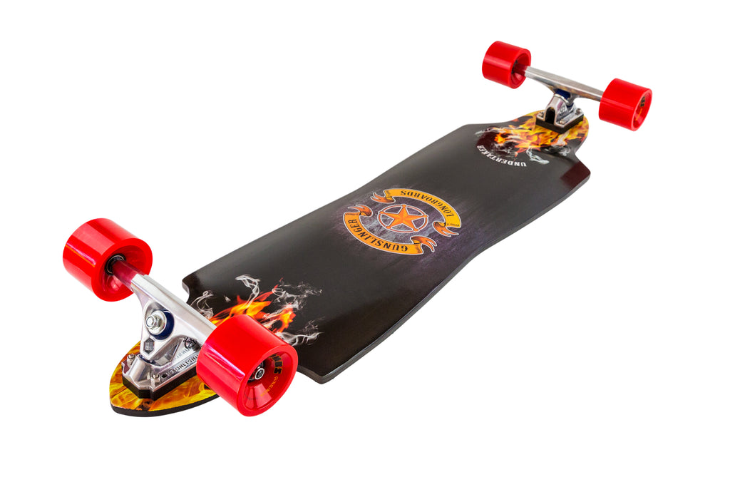 "Undertaker - Deck Only - 38""/ 965mm Maple - Downhill, Freeride - Gunslinger Longboard Skateboards Australia"