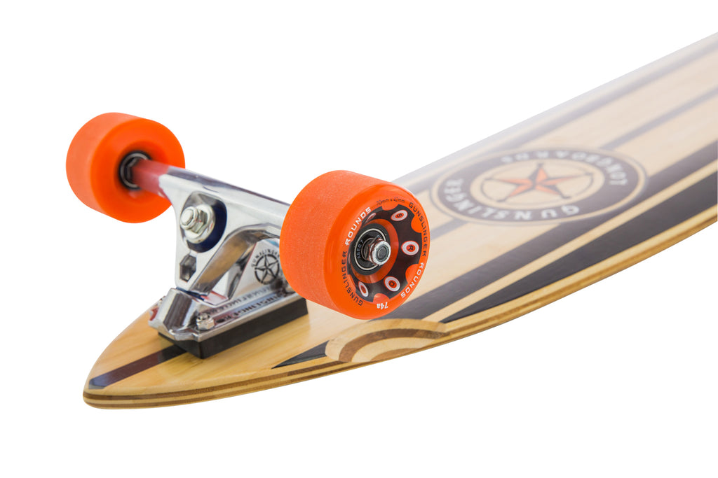 Rounds Orange 74A - Gunslinger Longboard Skateboards Australia
