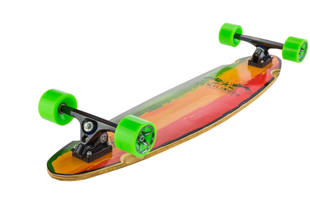 40 Rasta Deck Only  - Gunslinger Longboard Skateboards Australia