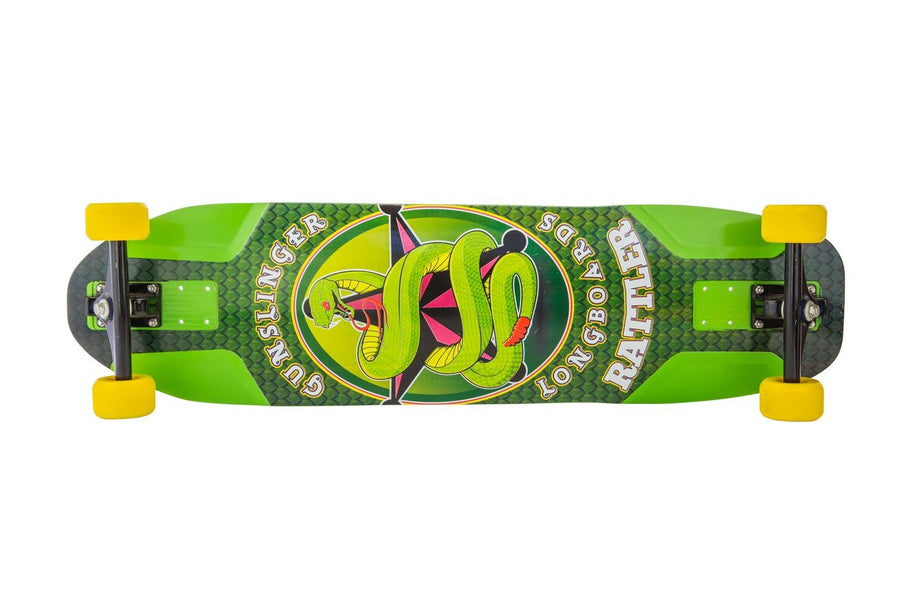 "Rattler Deck Only  -   37.5"" Maple - Gunslinger Longboard Skateboards Australia"
