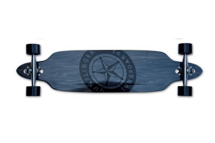 "Raven Deck Only - 41""/ 1041mm - 9 Ply Maple - Drop-Thru - Downhill/ Freeride - Gunslinger Longboard Skateboards Australia"
