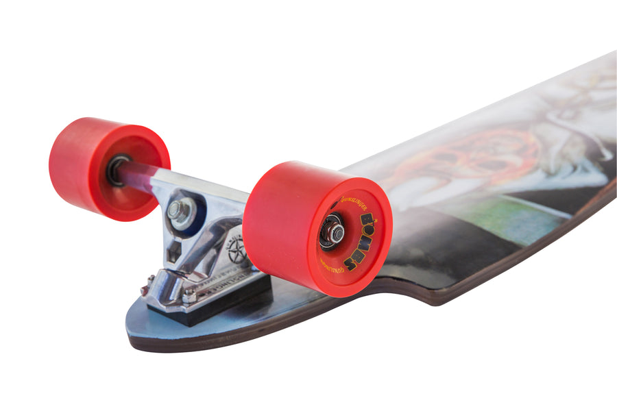 Bombs Red 83A - Gunslinger Longboard Skateboards Australia