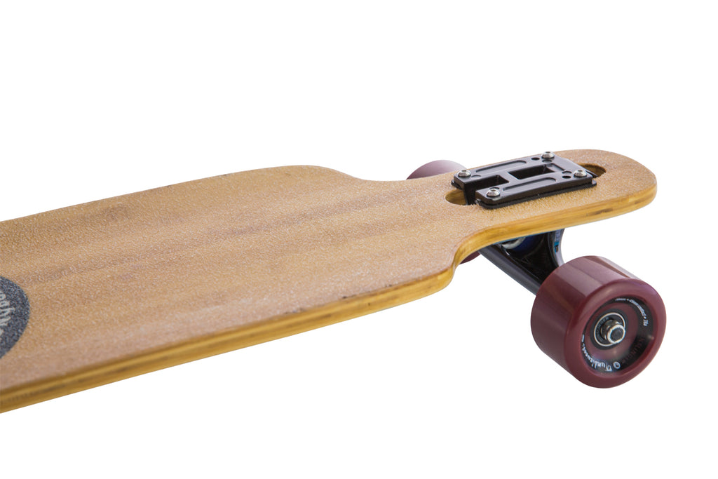 "Slidewinder Pink - Deck Only - 40""/ 1016mm Bamboo Drop-Thru Freeride - Gunslinger Longboard Skateboards Australia"