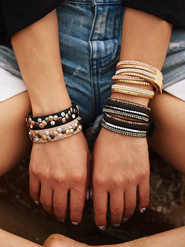 Vintage Punk 2 Colors Bracelet Accessories