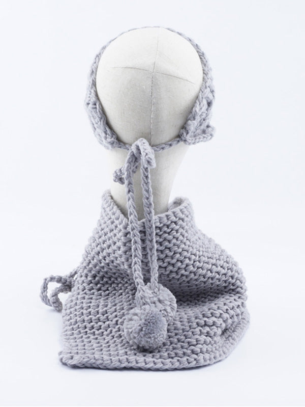 Two-piece Handmade Knitted Scarf&Hat Accessories