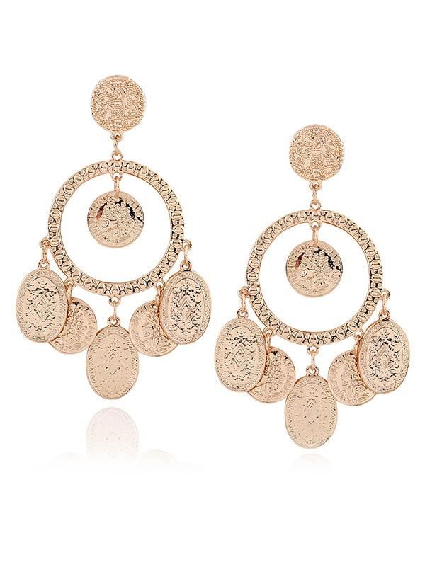 Fashion Gold Element Earrings