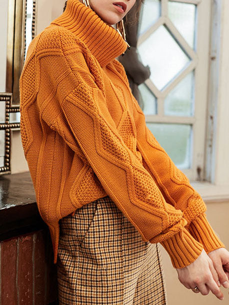 Loose High-neck Comfortable Sweater