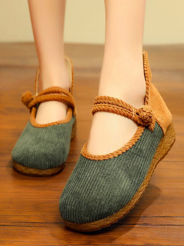 Split-joint Frog Flat Shoes